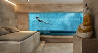 onderwaterramen, Underwater window, szkło akrylowe, Swimming pool with glass